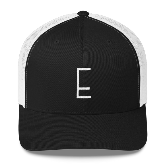 Letter E Retro Trucker Cap (E No. 6)