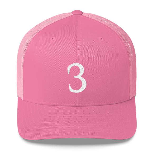 Number 3 Retro Trucker Cap (3 No. 11)