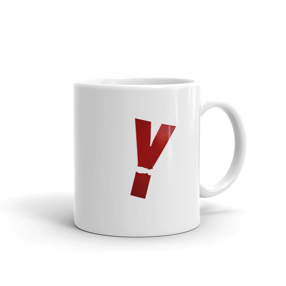 Letter Y Typographic Coffee Mug (Y No. 11)