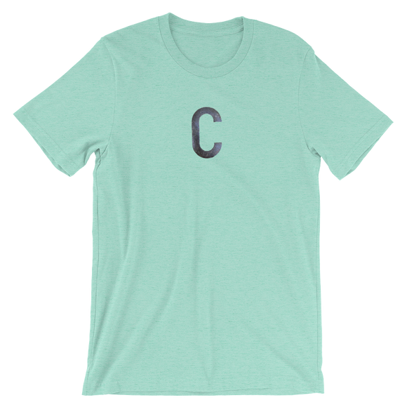 Letter C Typographic T-Shirt (C No. 24)