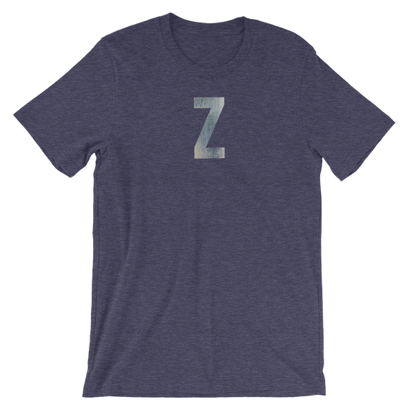 Letter Z Typographic T-Shirt (Z No. 1)
