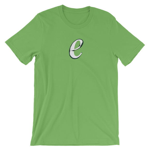 Letter E Typographic T-Shirt (E No. 59)