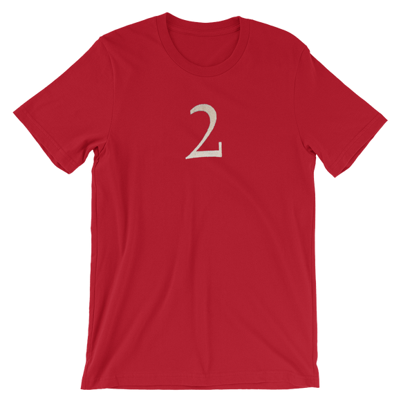Number 2 Typographic T-Shirt (2 No. 7)
