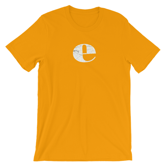 Letter E Typographic T-Shirt (E No. 31)