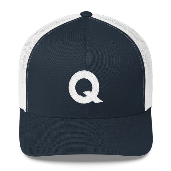 Letter Q Retro Trucker Cap (Q No. 3)