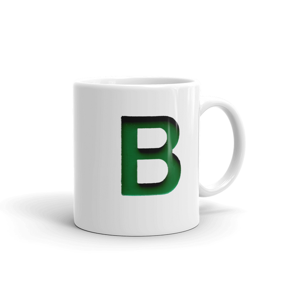 Letter B Typographic Coffee Mug (B No. 17)