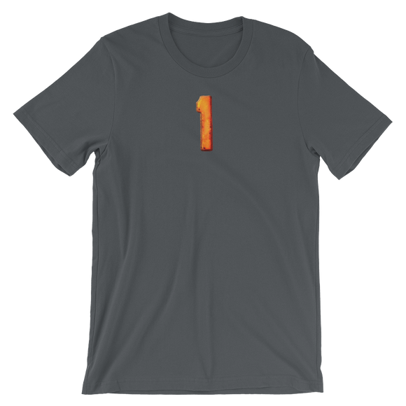 Number 1 Typographic T-Shirt (1 No. 19)