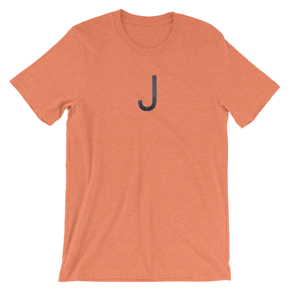 Letter J Typographic T-Shirt (J No. 19)