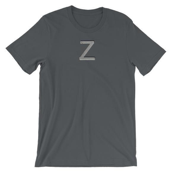 Letter Z Typographic T-Shirt (Z No. 9)