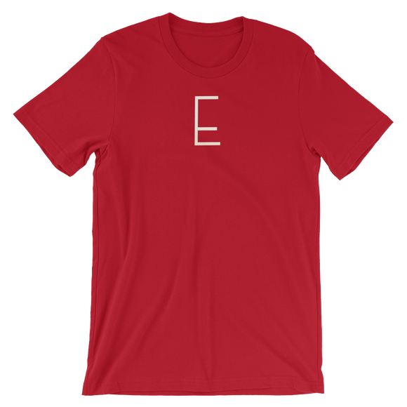 Letter E Typographic T-Shirt (E No. 6)