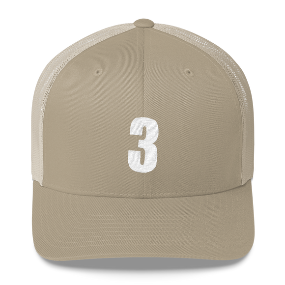 Number 3 Retro Trucker Cap (3 No. 5)
