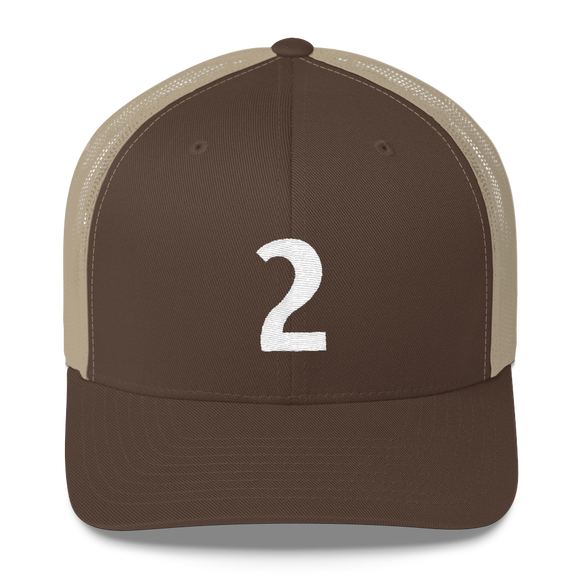 Number 2 Retro Trucker Cap (2 No. 6)