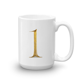 Number 1 Typographic Coffee Mug (1 No. 9)