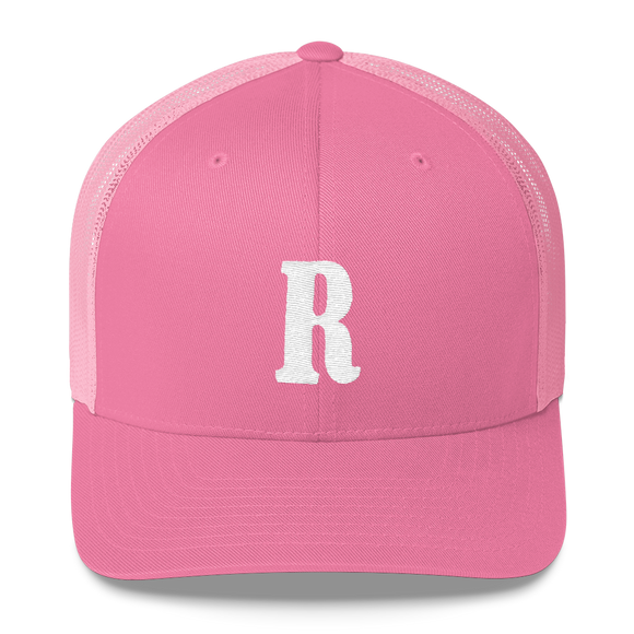 Letter R Retro Trucker Cap (R No. 13)