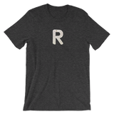 Letter R Typographic T-Shirt (R No. 28)