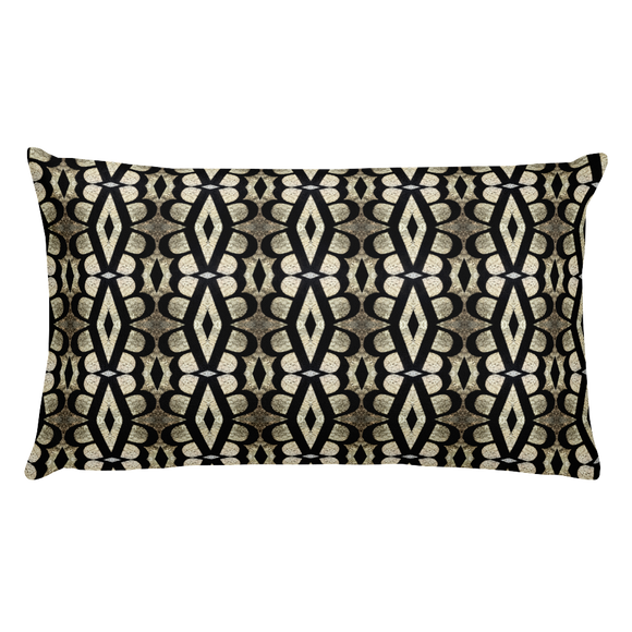 Letter B Typographic Pattern - Premium Pillow (B No. 14)