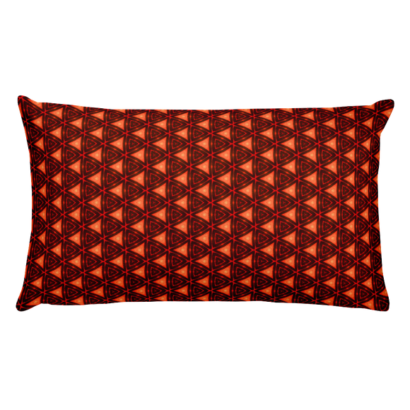 Letter W Typographic Pattern - Premium Pillow (W No. 9)