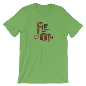"""FLEE SLOTH - Cato"" Typographic T-Shirt (Pulp No. 9)"