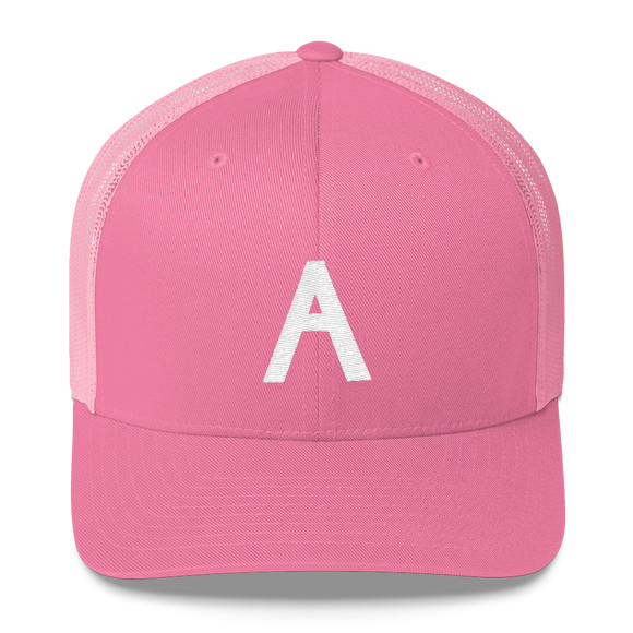 Letter A Retro Trucker Cap (A No. 1)