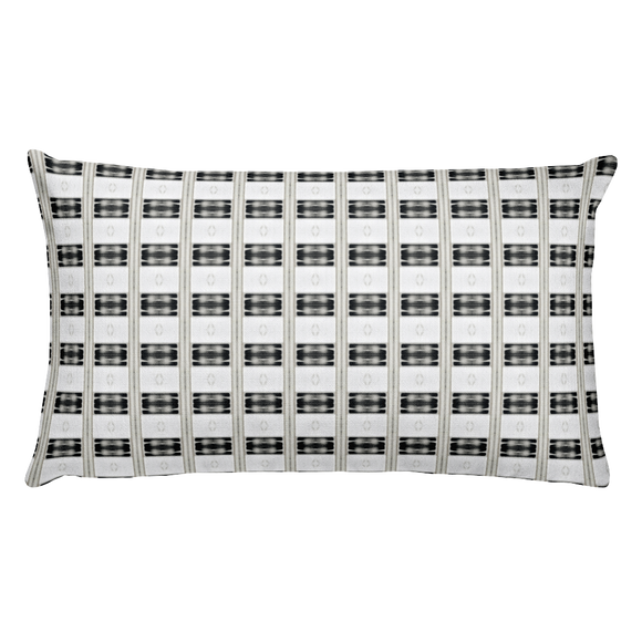 Letter N Typographic Pattern - Premium Pillow (N No. 35)