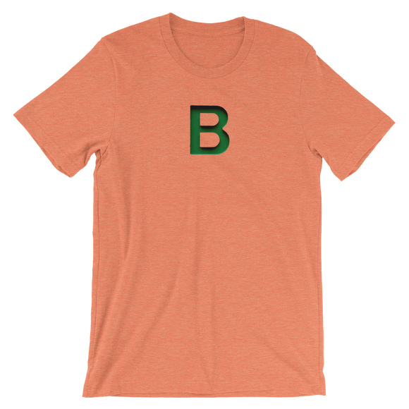 Letter B Typographic T-Shirt (B No. 17)