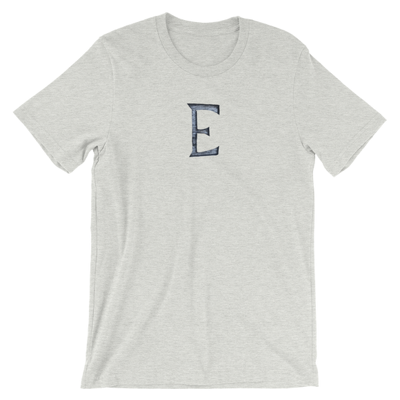 Letter E Typographic T-Shirt (E No. 57)