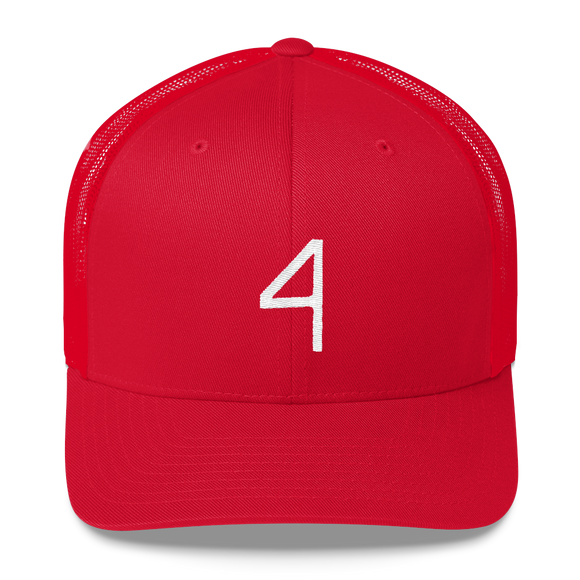 Number 4 Retro Trucker Cap (4 No. 11)