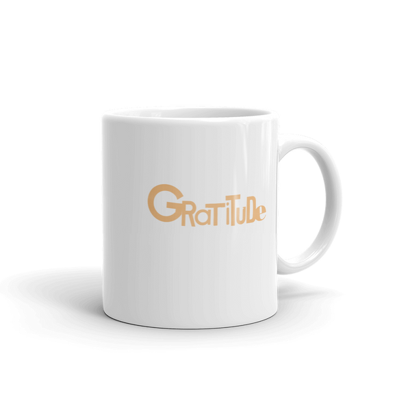 """GRATITUDE"" Typographic Coffee Mug (Pulp No. 12)"
