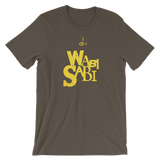 """I AM WABI-SABI"" Typographic T-Shirt (Pulp No. 7)"