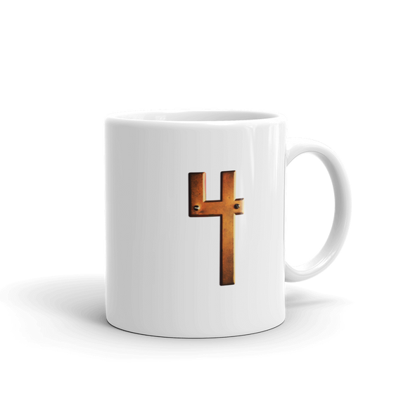 Number 4 Typographic Coffee Mug (4 No. 7)