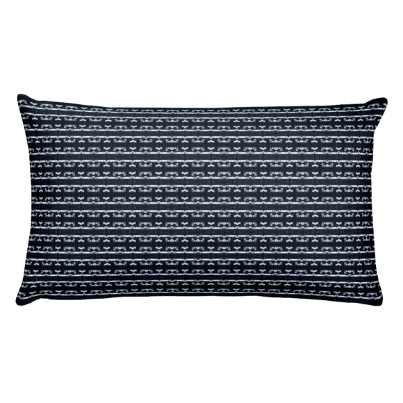 Letter G Typographic Pattern - Premium Pillow (G No. 10)