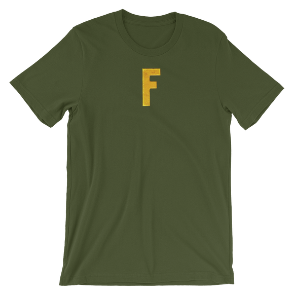 Letter F Typographic T-Shirt (F No. 14)