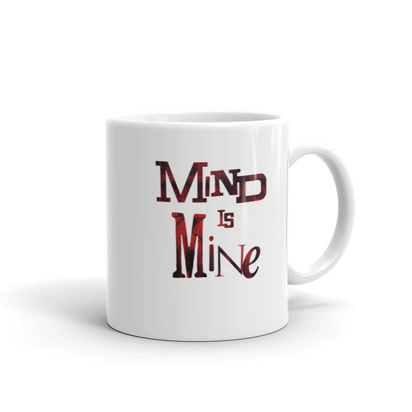 """MIND IS MINE"" Typographic Coffee Mug (Pulp No. 8)"
