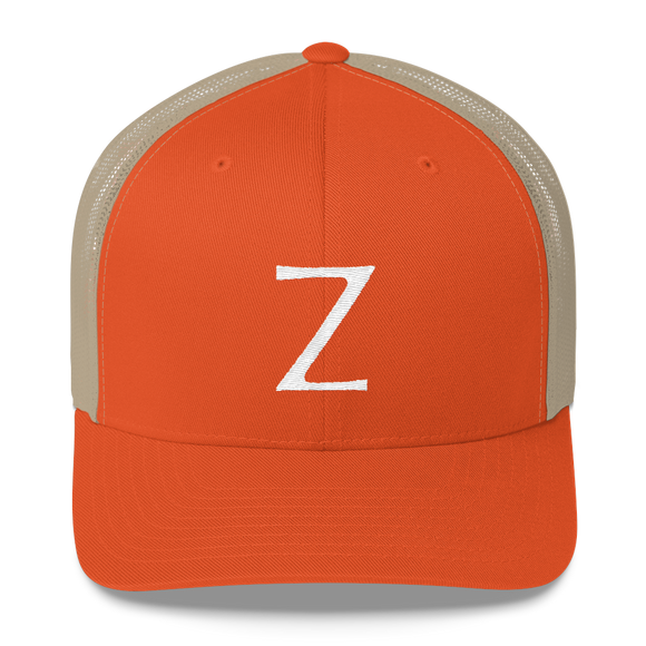 Letter Z Retro Trucker Cap (Z No. 11)