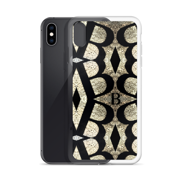 Letter B Typographic iPhone Case (B No. 14)