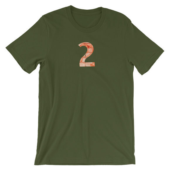 Number 2 Typographic T-Shirt (2 No. 6)