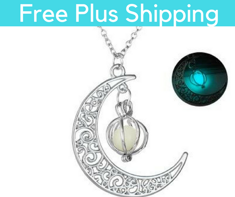 Glow Moon Pendent Necklace