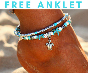 Starfish Design Anklet and charm