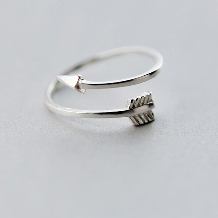 925 Sterling Silver Polished Love Arrow Ring