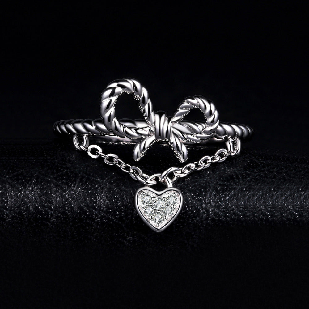 Heart  Rope Knot Bow