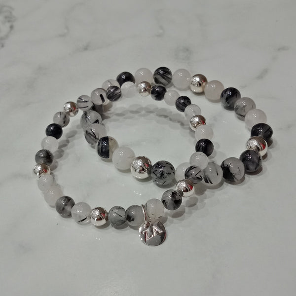Natural Rutile Quartz Beaded Bracelet