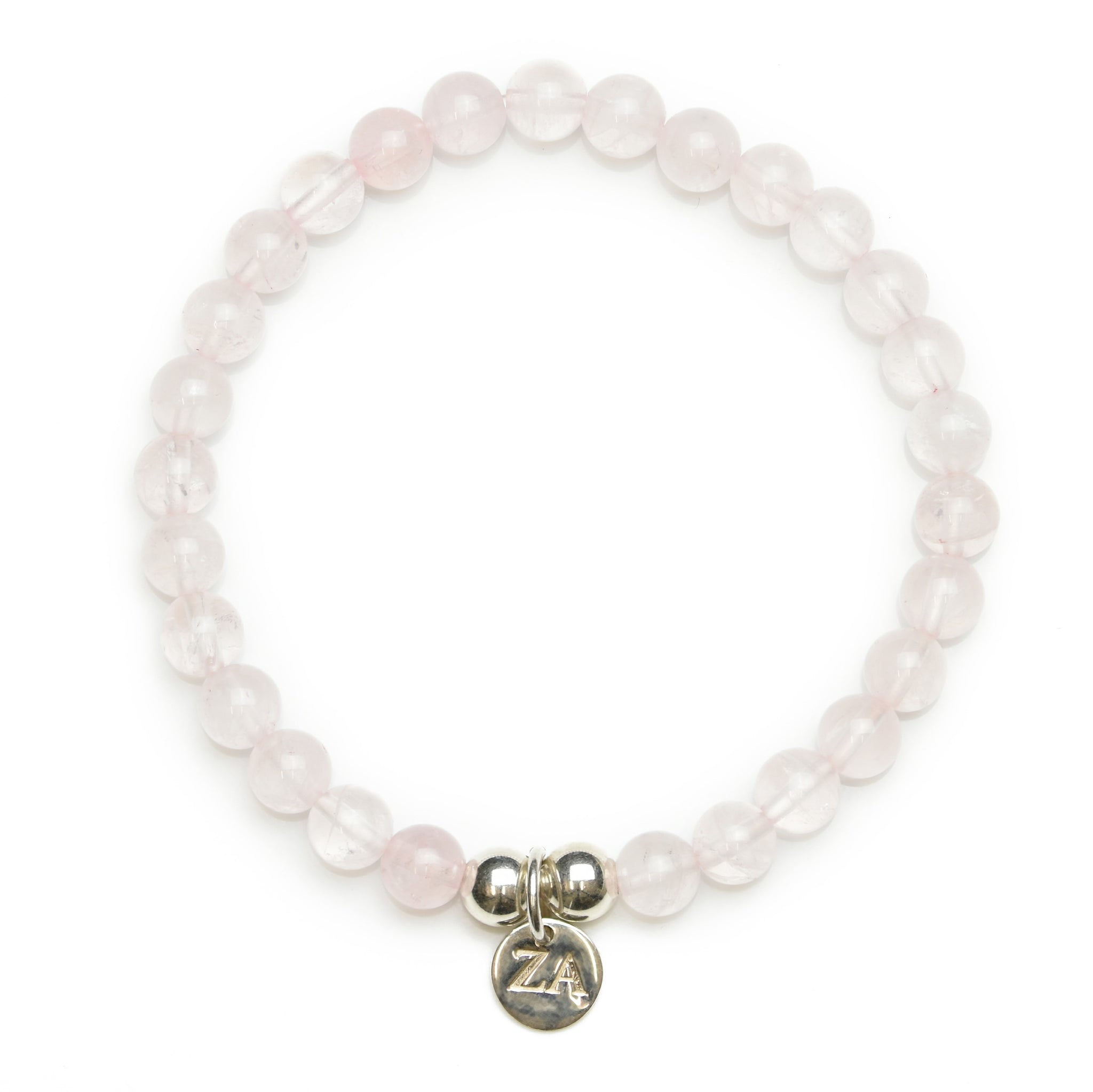 Natural Rose Quartz Beaded Bracelet