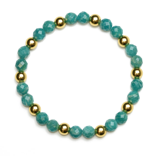Natural Russian Amazonite Beaded Bracelet