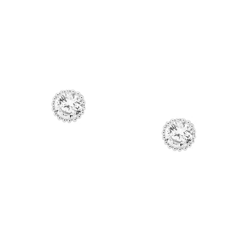 CZ Crown Set Studs