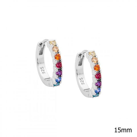 Multi Colour CZ Hoops