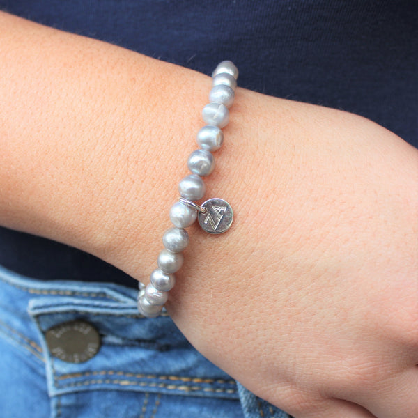 Grey Fresh Water Pearl Bracelet