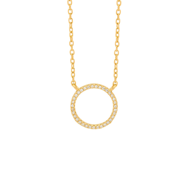CZ Circle Of Life Necklace