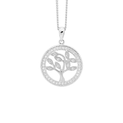 CZ Petite Tree of Life Necklace