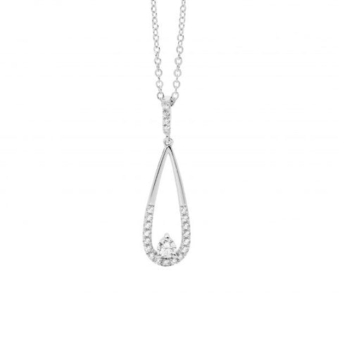 CZ Long Teardrop Necklace