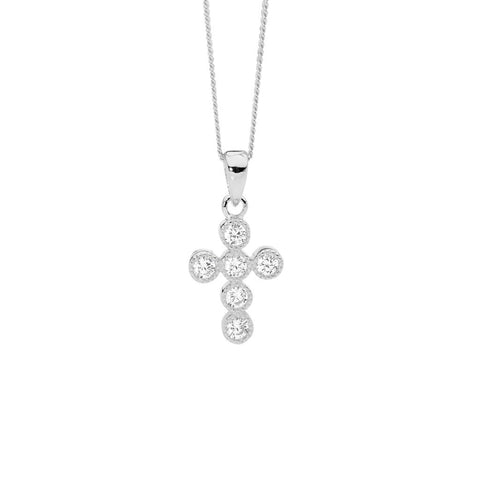 CZ Cross Petite Necklace